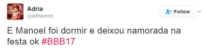 Tweet Manoel adormecido (Foto: Reprodução da Internet)