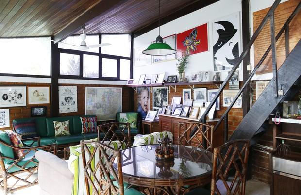Detalhes da sala considerada o 'cantinho do Mauro', que foi decorada por ele (Foto: Marcos Serra Lima / EGO)