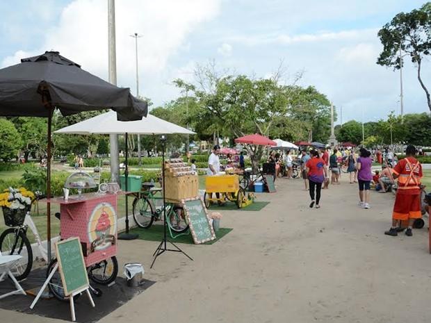 Jampa Food reuniu food trucks e food bikes no Centro de João Pessoa (Foto: Divulgação/Secom-JP)