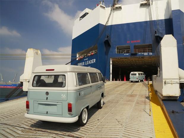 Volkswagen Kombi Last Ediion embarca para o México (Foto: Divulgação)