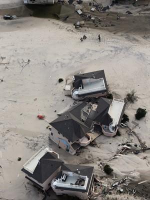 Destruição causada pelo furacão Sandy em Nova Jersey (Foto: Mario Tama/Getty Images/AFP)