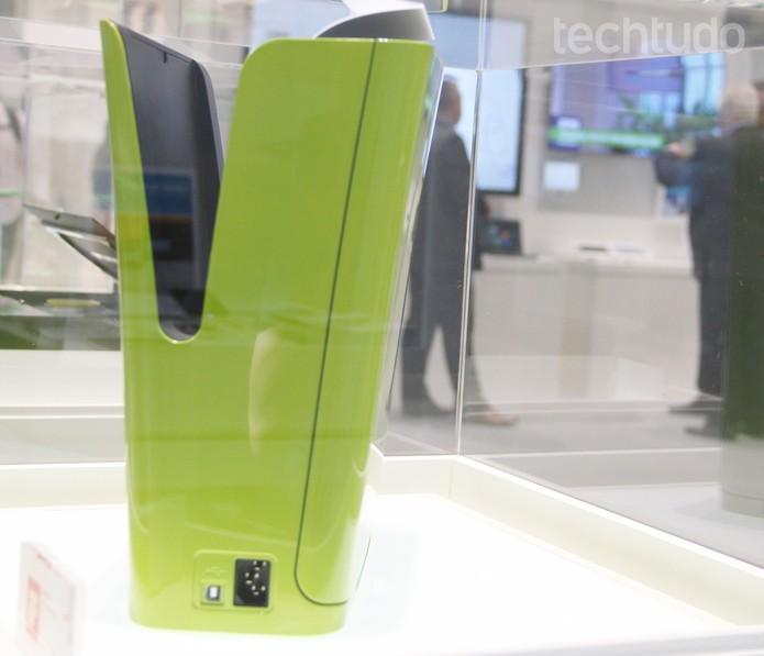 Modelo Vase, uma das impressoras conceituais da Samsung (Foto: Fabrício Vitorino/TechTudo)