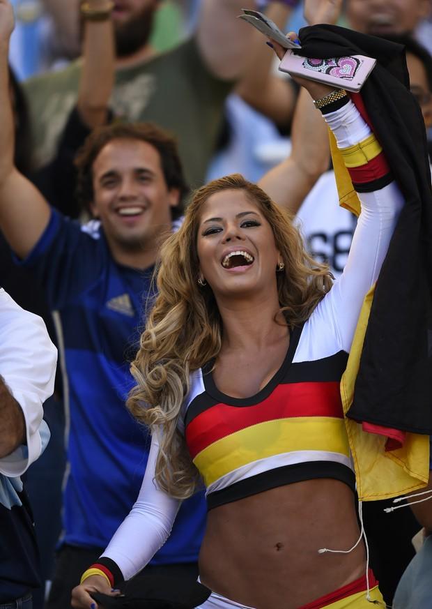 Fã da Alemanha (Foto: FABRICE COFFRINI / AFP)