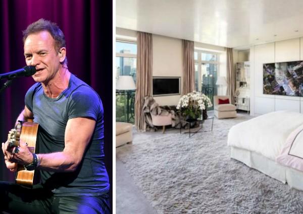 O apartamento de Sting em Nova York que foi vendido pelo cantor (Foto: Getty Images/Reprodução)