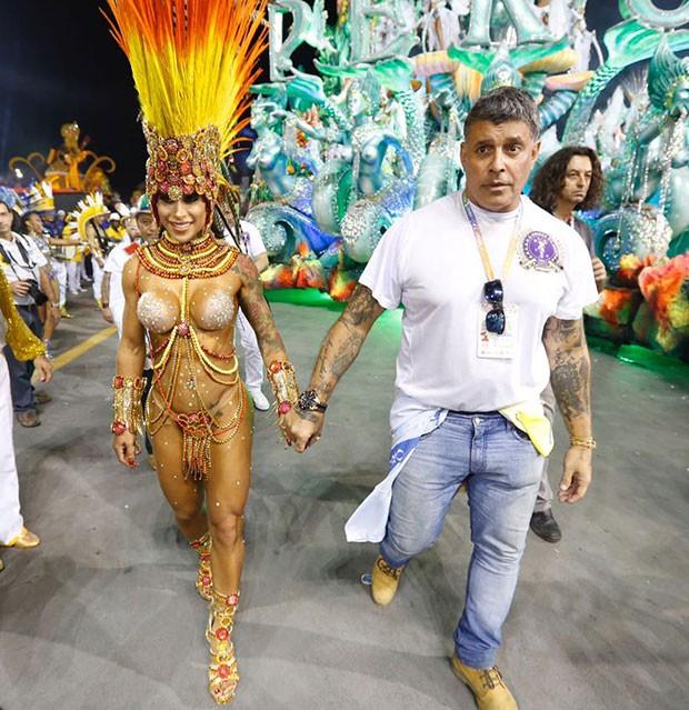 Fabi e Alexandre Frota (Foto: Eduardo Saraiva/ Ed. Globo)
