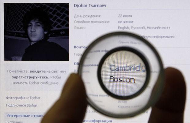 Em perfil em rede social russa, suspeito diz ser islâmico (Foto: Alexander Demianchuk/Reuters)