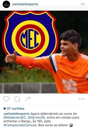 ayrton fluminense madureira empresario (Foto: Reprodução / Instagram)
