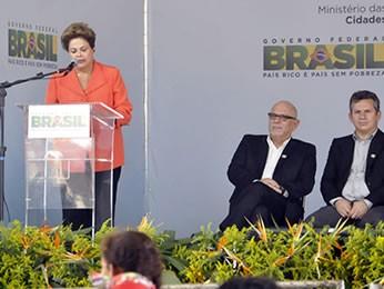 Presidente Dilma Rousseff em Cuiabá (Foto: Carolina Holland/G1)