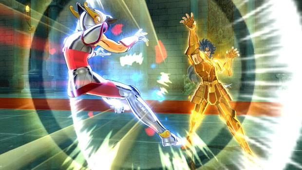 Cena do novo game  'Os Cavaleiros do Zodíaco: Bravos Soldados' (Foto: Divulgação/Namco Bandai)