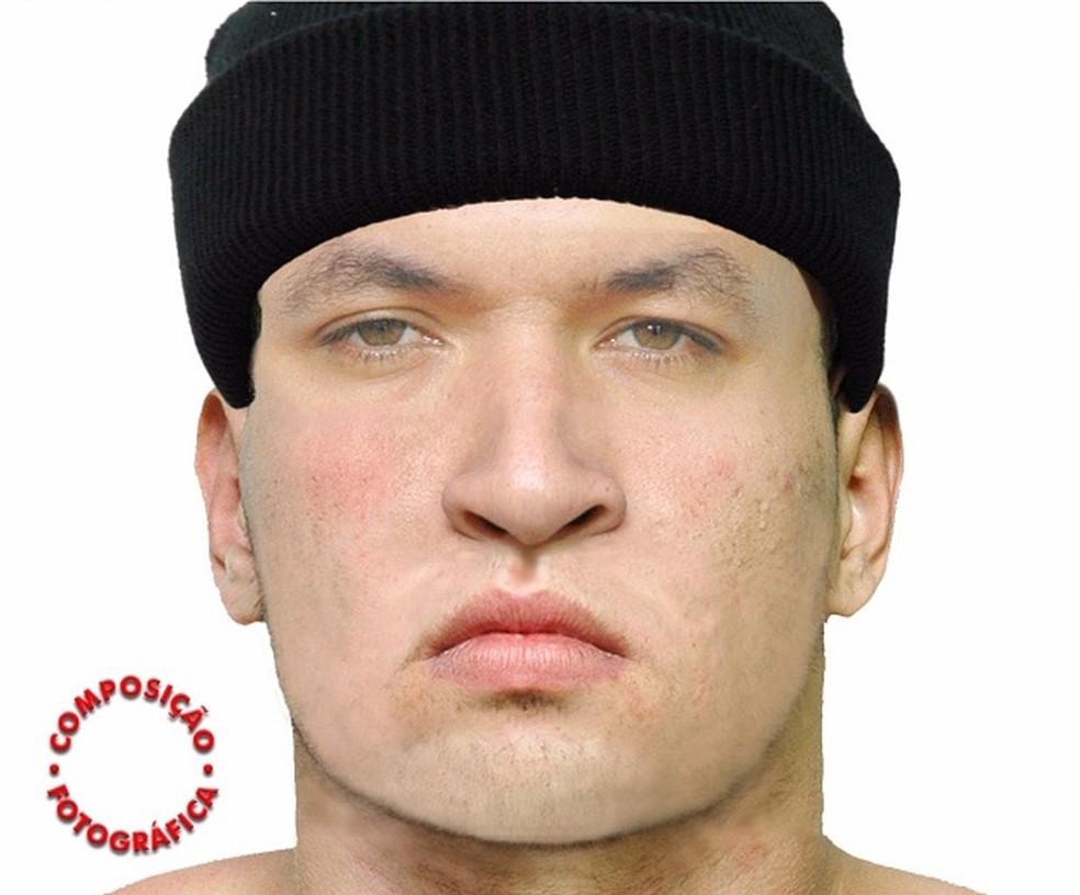 Retrato falado do suspeito foi produzido pela Polícia Federal em Mossoró. (Foto: Divulgação / PF)