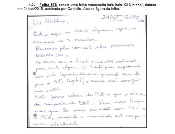 Documento encontrado pela PF em poder de Antônio Carlos Vieira da Silva (Foto: Reprodução)