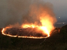 Após queda de raio, incêndio queima 50 hectares de fazenda em MT