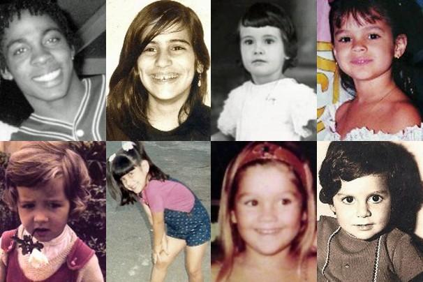 Sabe quem são essas oito crianças? Descubra nos links a seguir (Foto: Arquivo Pessoal)
