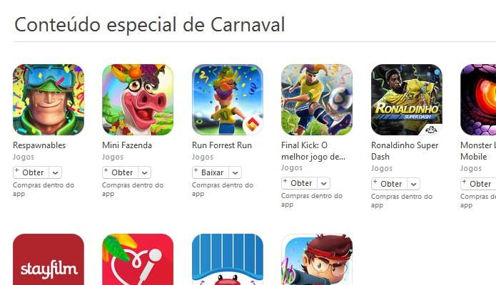 Vários jogos da App Store receberam conteúdos temáticos extra para este carnaval (Foto: Reprodução/Daniel Ribeiro)