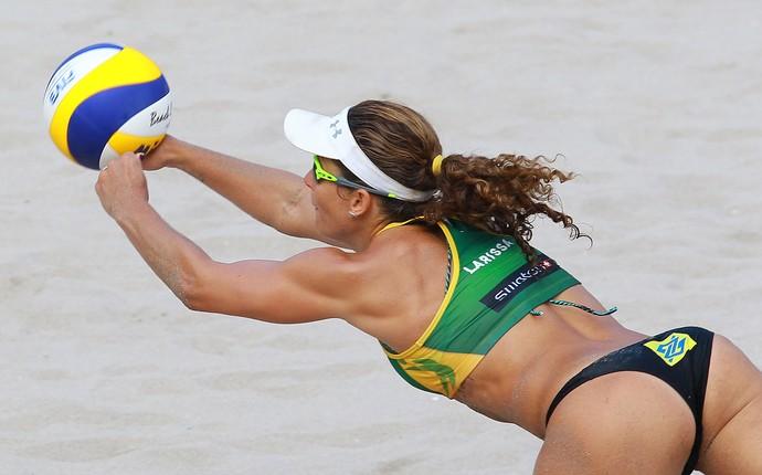 Larissa etapa de fort laudardale vôlei de praia (Foto: Divulgação/FIVB)