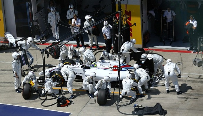 Felipe Massa pit stop Williams GP da Áustria (Foto: Divulgação/Williams)