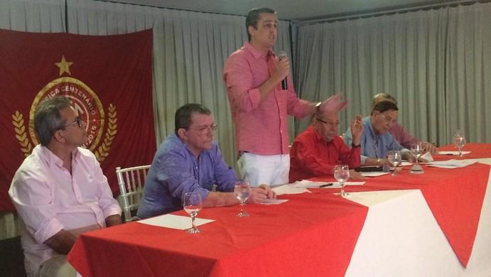 Beto Santos - presidente do América-RN (Foto: Klênyo Galvão/GloboEsporte.com)