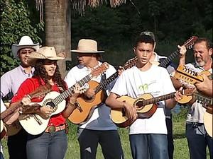 encontro violeiros uberlândia (Foto: Reprodução/ TV Integração)