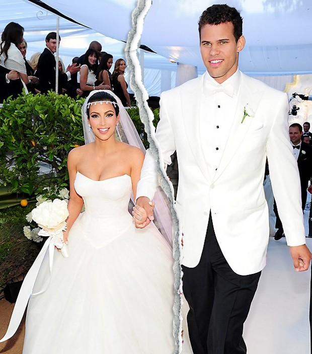 Kim Kardashian e Kris Humphries foram casados por apenas 72 dias, em 2013 (Foto: Reprodução)