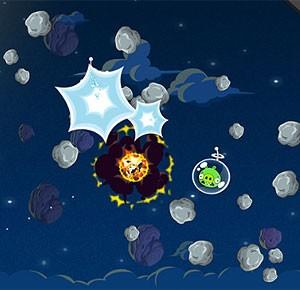 Cenas do novo jogo da Rovio 'Angry Birds Space'  (Foto: Divulgação)