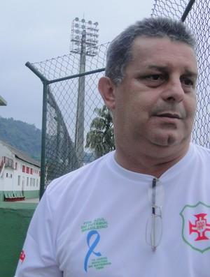 Marciel da Silva Turioni, vice-presidente da Portuguesa Santista (Foto: Mariane Rossi / GloboEsporte.com)