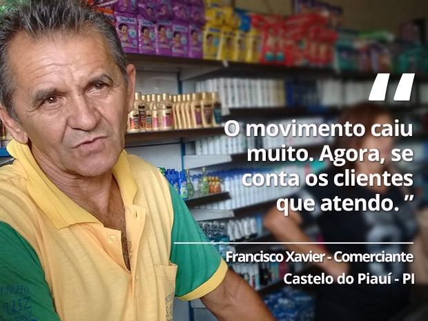 Francisco Xavier - Castelo do Piauí (Foto: Gilcilene Araújo/G1)
