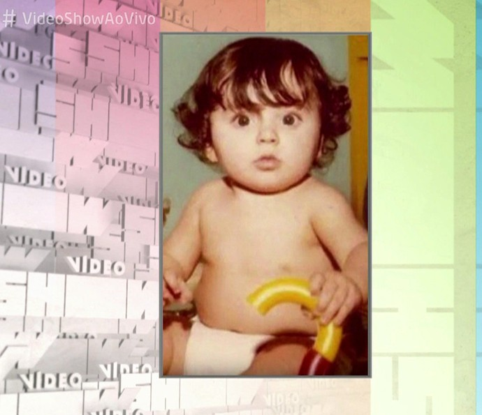 Monica Iozzi quando era criança (Foto: TV Globo)