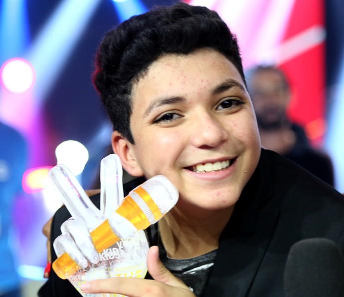 Wagner Barreto é o campeão do The Voice Kids (Foto: Isabella Pinheiro/Gshow)