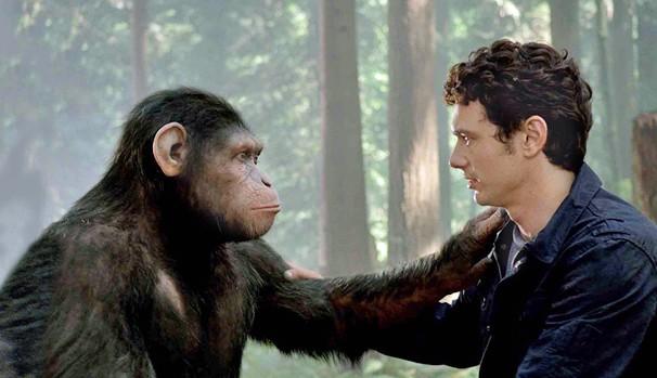 Cena final de 'Planeta dos Macacos: A Origem', que foi modificada um mês antes da estreia (Foto: Divulgação/Reprodução)