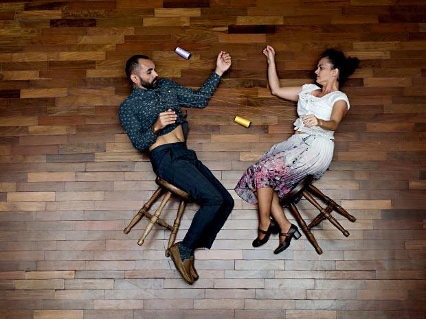 """Os coreógrafos e bailarinos Édi Oliveira e Giselle Rodrigues, que apresentam espetáculo de dança e teatro """"Fio a fio"""" (Foto: Diego Bresani/Divulgação)"""