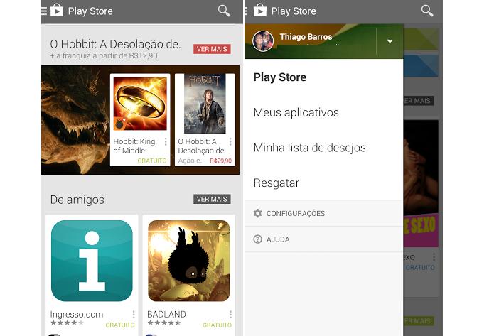 Google Play é bem fácil de navegar (Foto: Thiago Barros/TechTudo)