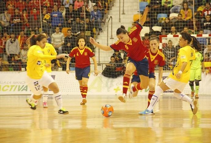 Brasil Espanha final mundial futsal feminino  (Foto: Divulgação/FFCM)