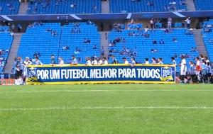 Faixa Jogo Grêmio (Foto: Reprodução )