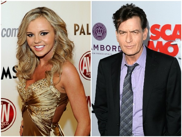 Bree Olson e Charlie Sheen (Foto: Getty Images)