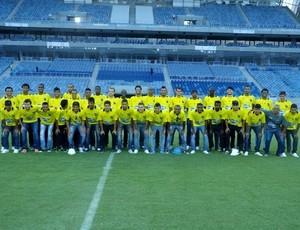 Jogadores e comissão técnica do ABC visitam Arena das Dunas (Foto: Divulgação/ABC)