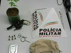 Três jovens são presos com arma e pé de maconha em Ipatinga