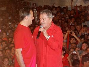 Ex-presidente Lula visita Paraíba (Foto: Krystine Carneiro/G1)