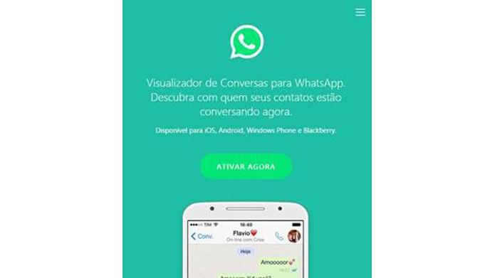 Golpe promete permitir que vítimas vejam conversas de contatos no WhatsApp (Foto: Divulgação/ESET)