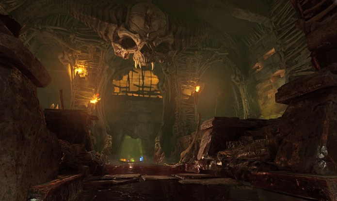 Gráficos são o forte no novo Doom (Foto: Divulgação/id Software)