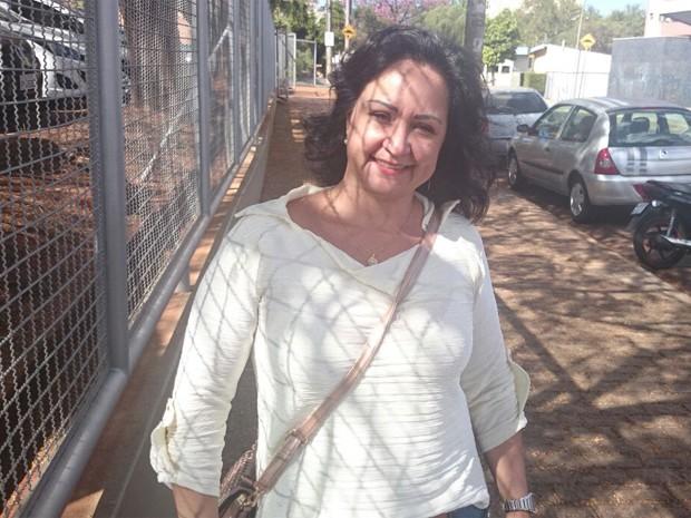 Adriana Nogueira Melo, 44, faz exame da OAB pela quarta vez (Foto: Fernando Machado/G1)