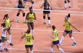 Brasil fecha fase de classificação do Grand Prix com vitória sobre a Turquia
