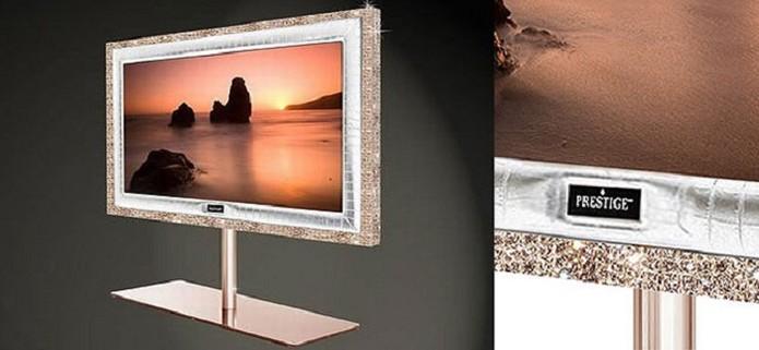 TV tem diamantes e ouro rosa (Foto: Divulgação/Stuart Hughes)