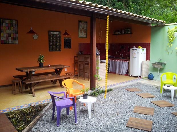 Hostel Biergarten, em Ilha Grande (Foto: Divulgação)