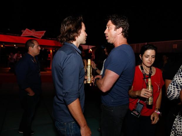 Taylor Kitsch e Gerard Butler em festa na Zona Sul do Rio (Foto: Felipe Panfili/ Ag. News)