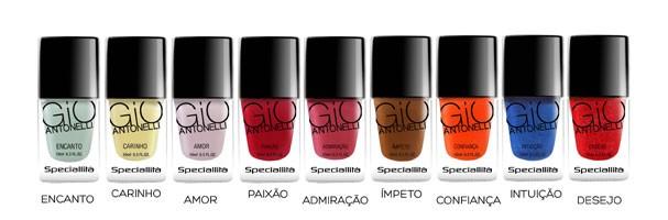 As cores dos vidrinhos Hits Speciallità by Antonelli. E aí, curtiu? (Foto: Divulgação)