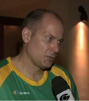 Morten Soubak, técnico da seleção brasileira feminina de handebol (Foto: Reprodução/TV Gazeta)