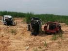 Polícia encontra carcaças de carros roubados em Rio das Pedras, SP