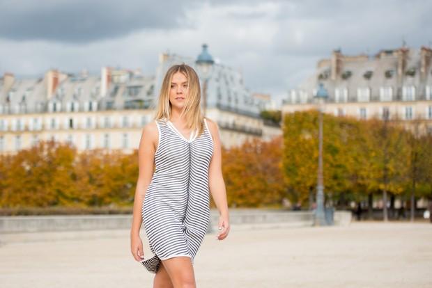 Gabi Lopes em Paris (Foto: Leandro Dias/Divulgação)
