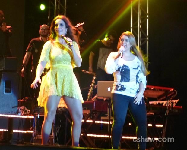 Preta Gil dá uma canja com Ivete (Foto: SuperStar / TVGlobo)