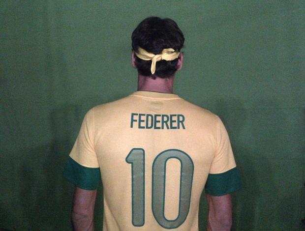 Roger Federer com a camisa da seleção (Foto: Reprodução)
